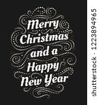 merry christmas and a happy new ... | Shutterstock .eps vector #1223894965