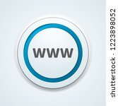 www internet button illustration | Shutterstock .eps vector #1223898052