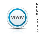 www internet button illustration | Shutterstock .eps vector #1223898055