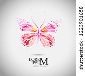 abstract color butterfly. vector | Shutterstock .eps vector #1223901658