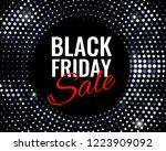 black friday sale banner.... | Shutterstock .eps vector #1223909092