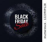black friday sale banner.... | Shutterstock .eps vector #1223909128