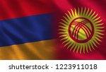 armenia and kyrgyzstan   3d... | Shutterstock . vector #1223911018