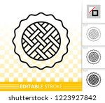 pie thin line icon. outline... | Shutterstock .eps vector #1223927842