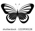 black   white ornamented... | Shutterstock .eps vector #1223930128