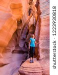 Young Woman In Antelope Canyon...