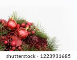 christmas background with red... | Shutterstock . vector #1223931685