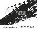 paint banner. brush stroke.... | Shutterstock .eps vector #1223932162