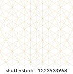 golden lines pattern. vector... | Shutterstock .eps vector #1223933968