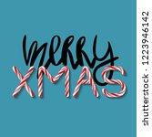 merry xmas   creative poster... | Shutterstock .eps vector #1223946142