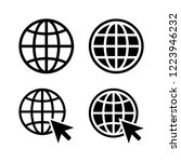 globe icons  icon vector eps10 | Shutterstock .eps vector #1223946232