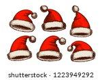 santa claus hat  vintage....   Shutterstock .eps vector #1223949292