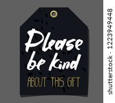 funny gift tag. lettering ... | Shutterstock .eps vector #1223949448