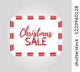 christmas frame for sale ... | Shutterstock . vector #1223960128