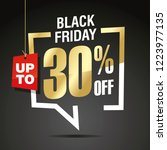 black friday 30 percent off... | Shutterstock .eps vector #1223977135