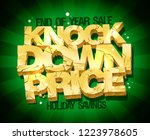 end of year sale  knock down... | Shutterstock . vector #1223978605