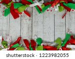 festive christmas red  green... | Shutterstock . vector #1223982055