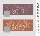 new year 2019 facebook covers... | Shutterstock .eps vector #1223995168