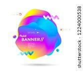 creative design fluid banner... | Shutterstock .eps vector #1224000538