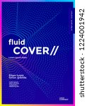 minimal cover design with... | Shutterstock .eps vector #1224001942