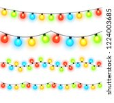 christmas lights isolated on... | Shutterstock .eps vector #1224003685