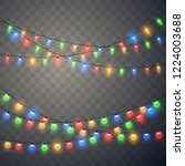 christmas lights. colorful... | Shutterstock .eps vector #1224003688