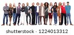 group of people in a row | Shutterstock . vector #1224013312