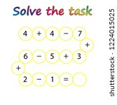 worksheet. mathematical puzzle...   Shutterstock .eps vector #1224015025