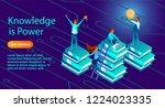 isometric illustration of a... | Shutterstock .eps vector #1224023335