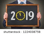 new year concepts 2019...   Shutterstock . vector #1224038758