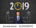 new year concepts 2019... | Shutterstock . vector #1224038932