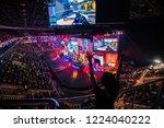 moscow  russia   october 2018 ... | Shutterstock . vector #1224040222
