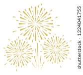 gold and bright firework on... | Shutterstock .eps vector #1224041755
