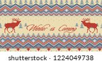 winter is coming. christmas... | Shutterstock .eps vector #1224049738