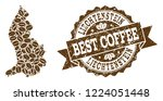 compositions of coffee map of... | Shutterstock .eps vector #1224051448