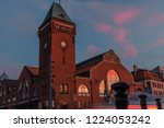 night view of the architecture... | Shutterstock . vector #1224053242