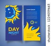 flyer day nignt theme. sun rays ...   Shutterstock .eps vector #1224059665