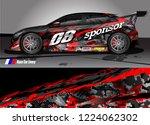 vehicle graphic kit vector.... | Shutterstock .eps vector #1224062302