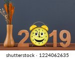 happy new year concepts 2019... | Shutterstock . vector #1224062635