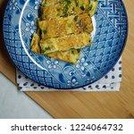 asian food egg roll  tamago...   Shutterstock . vector #1224064732
