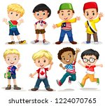 set of international boy... | Shutterstock .eps vector #1224070765