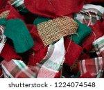 festive christmas red  green... | Shutterstock . vector #1224074548