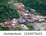 aerial view of the abandoned... | Shutterstock . vector #1224075622