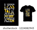 less talk more action... | Shutterstock .eps vector #1224082945