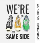 typography slogan with colorful ...   Shutterstock .eps vector #1224092725