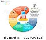 6 parts of presentation... | Shutterstock .eps vector #1224093505