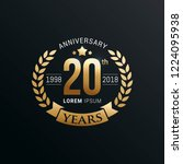 anniversary emblems template... | Shutterstock .eps vector #1224095938