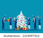 merry christmas party. concept... | Shutterstock .eps vector #1224097312