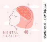 mental health for women vector | Shutterstock .eps vector #1224102862