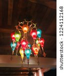 Colorful Bulb Chandelier